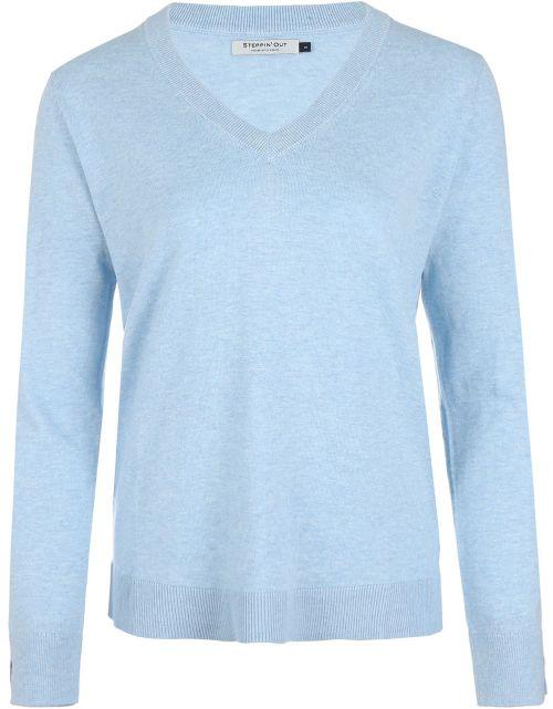 Cotton cashmere V-hals