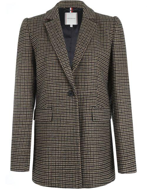 Wool Blend Pattern SB Hip L Coat