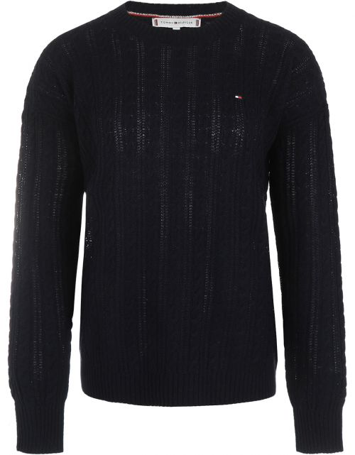 Softwool Cable C-NK Sweater LS