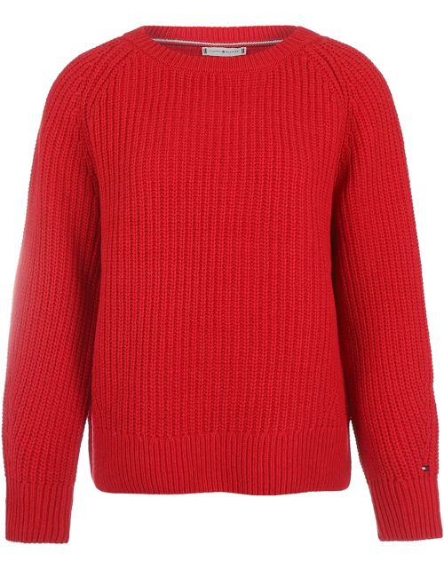 Rib Open-NK Sweater LS