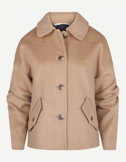 Wol Blend Cropped Jacket