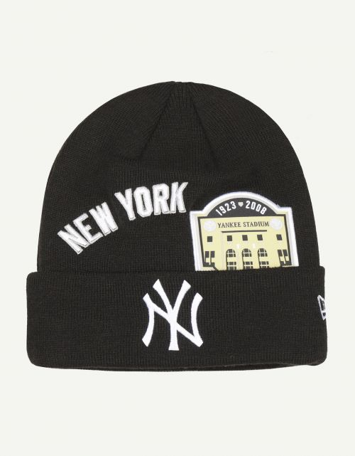 Multi Patch Cuff Knit New York Yankees BLK
