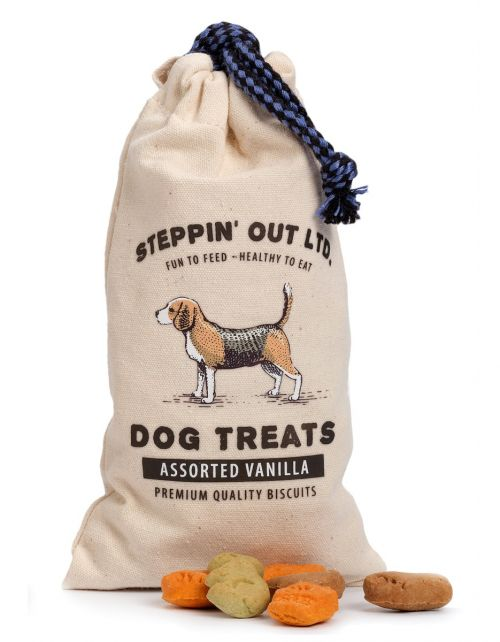 Dog Treats in canvas bag